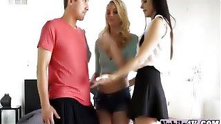 Naked lesbian girlfriends threesome
