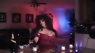 porno tube Mature Brunette teasing in pantyhose, long nails, smoking