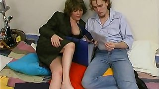 Russian Taboo family mother with son