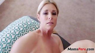 Son massages mom & she massages his balls