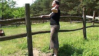 Tall Mature Lady Gets Banged By A Farm Boy