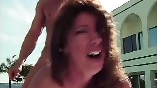 MomsWithBoys - Redhead MILF With Big Tits Enjoys Sex Outdoors