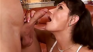 Mature wife Susan takes younger dick