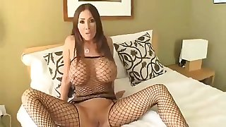 Skinny slut with massive titts fucking her boyfriend hard