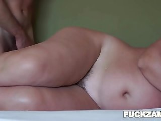 Mature BBW Hairy Pussy Pumped Full Of Jizz