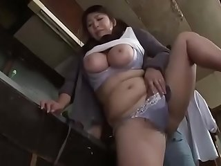 Fuck Japanese mom in kitchen  Full: